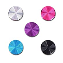 SODIAL(R)5 PCS High Class Spiral Metal Home Buttons Stickers for Apple iPhone 5 5g 5c 5s 4 4s iPad 1 2 New iPad 3 4 iPad air 5 iPad Mini Mini 2 iTouch ipod