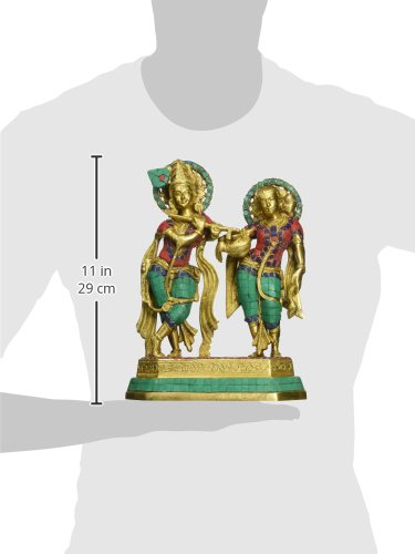 AapnoCraft Large Standing Radha Krishna Statue - Exquisite Divine Couple Radha Krishna Idols Symbol of Love Sculpture Wedding Gifts by AapnoCraft (Image #3)