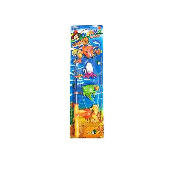 Kingsmen Line Magnetic Fishing Bath Toy with Aquatic Animals Fishing Rod for Kids, Girls & Boys, by Kingsmen Line Seller