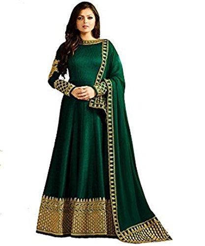 Indian Wear Anarkali Salwar Kameez Party Wear LT1 (Green, L-42) (Green Salwar Kameez)