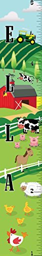 Mona Melisa Designs Customized Farm Ella Growth Chart Decorative Wall Sticker [並行輸入品]   B0785PBC4S
