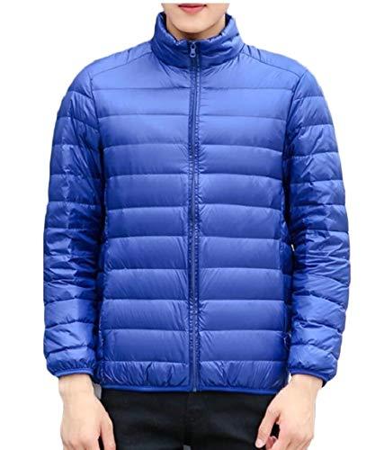 TTYLLMAO Men's Ultra-Lightweight Packable Outwear Down Jacket Coat Blue