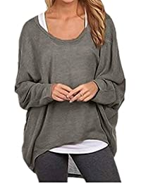 Ninimour Womens Loose Knitted Tops Pullover Sweaters