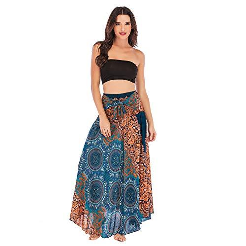 b29a8678 FAMILIZO Faldas Largas Y Elegantes Faldas Cortas Mujer Verano Faldas Mujer  Invierno Primavera Vestidos Mujer Hippie Bohemia Gitana Boho Flores ...