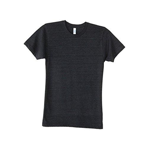 American Apparel Unisex Tri-blend Short Sleeve Track T-Shirt (XL) (Tri-Black)