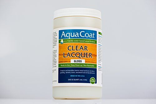 (Clear Lacquer, Water-Based Wood Finish, Gloss, Quart)