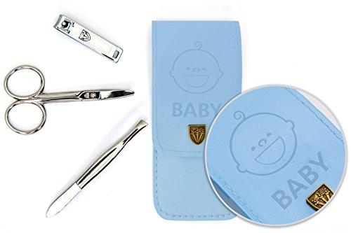 Drei Schwerter | Exklusives 3-teiliges Maniküre - Pediküre - Nagelpflege-Set / Etui für Babies und Kleinkinder | Markenqualität (677518)