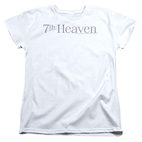 Price comparison product image 7th Heaven Logo Womens Short Sleeve Shirt White MD