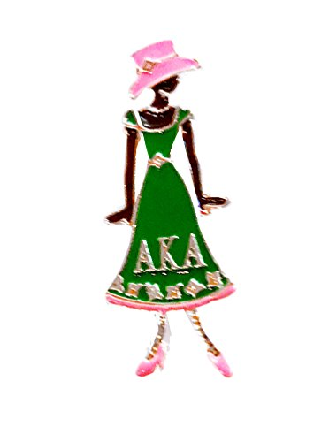 Alpha Kappa Alpha Sorority AKA Diva Greek Letter Pin by Nathan J.