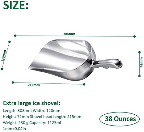 Inciple Ice Shovel Aluminum Shovel Sugar Shovel Shovel Supermarket bar Multi-Function Food Shovel Ice Shovel