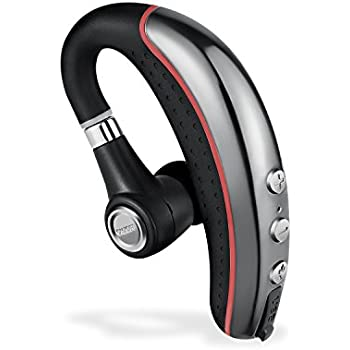 Bluetooth Headset,Ansion Wireless Bluetooth 4.1 In Ear Earpiece Earbuds Earphones Headphones with Noise Reduction,Mute Switch,Hands Free with Mic for Office/Business/Workout/Driver/Trucker
