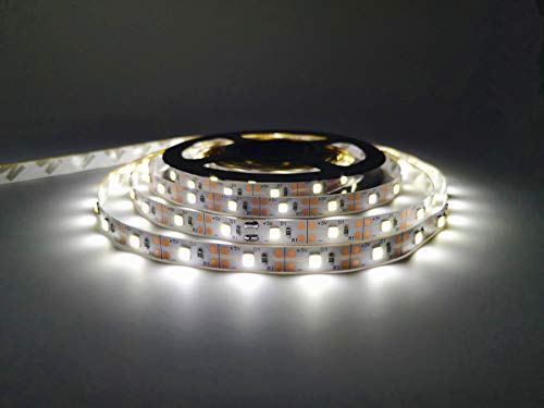 Led Strip Lights Battery Powered, Battery Led Light with Led Light Battery Powered Flexible Ribbon Light, 300leds Cool Warming-5M / 16.4ft (White) (White)
