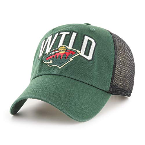 OTS NHL Minnesota Wild Male Decry Challenger Adjustable Hat, Dark Green, One Size