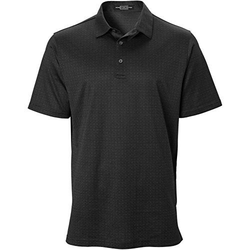 Carnoustie Mens Box Jacquard Polo Black XL