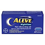 ALEVE Nighttime, Pain Reliever/Sleep Aid, Naproxen Sodium 220mg, 40 Caplets