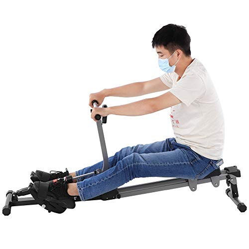 Indoor roeitrainer, training roeitrainer, 12 weerstands roeitrainer Verstelbare roeitrainer fitness- en…