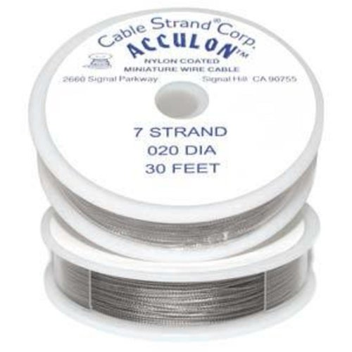 Acculon Beading Wire Tigertail 7 Strand .020 Dia.