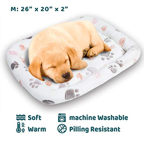 Allisandro Fluffy Dog Crate Bed Cuddler - Cozy Durable Small/Large Pet Bed Bolster for Cats and Dogs
