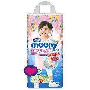 Pañales japoneses - bragas Moony XXL Girl (13-25kg.)// Japanese