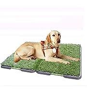 Little east Artículos para el Aseo de Mascotas para Perros Lavado automático para el Inodoro del césped Perro pequeño Limpio No tóxico Orinal Perro Grande para Inodoro (Tamaño : M(68 * 86cm))