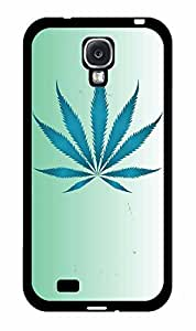 Fuzzy Weed Leaf on Blue Background 2-Piece Dual Layer Phone Case Back Cover Samsung Galaxy S4 I9500 by lolosakes
