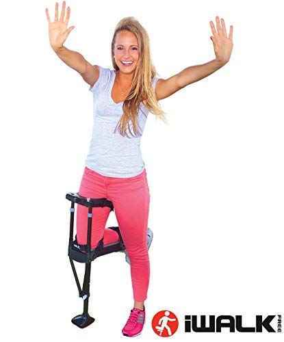 (iWALK2.0 Hands Free Knee Crutch - Alternative for Crutches and Knee Scooters - by iWALKFree)