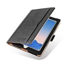 iPad 4 (Retina Display), iPad 3 & 2 Case, JAMMYLIZARD The Original Black & Tan Leather Smart Cover