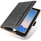 JAMMYLIZARD [ iPad 4 (Retina Display), iPad 3 & 2 Case ] The Original Black & Tan Leather Smart Cover