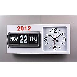 FARTECH Auto Calendar Flip Clock AD-830 (White)