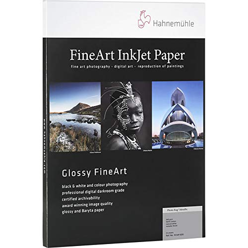 Hahnemuhle PhotoRag Metallic, 340gsm, Fine Art, Natural White, Hi-Gloss Inkjet Paper ()