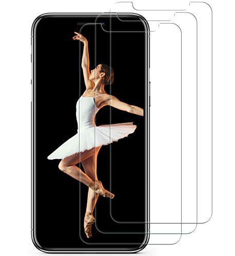 iPhone XS Max Screen Protector(3 pack, Clear) Aslanda iPhone XS Max Tempered Glass Screen Protector....