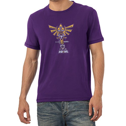 TEXLAB - Triforce Totem - Herren T-Shirt, Größe XXL, violett