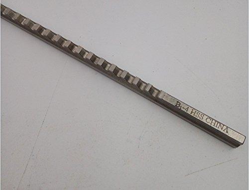 Metric Size Keyway Broach 4mm B1 Push-Type High Speed Steel HSS with Shim Dimension 6.45x171.5mm