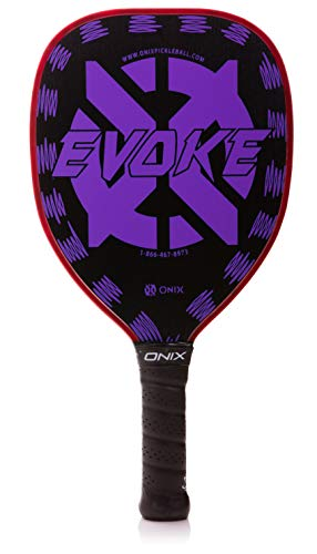 Onix Graphite Evoke Tear Drop Pickleball Paddle Features Tear Drop Shape, Polypropylene Core, and Graphite ()