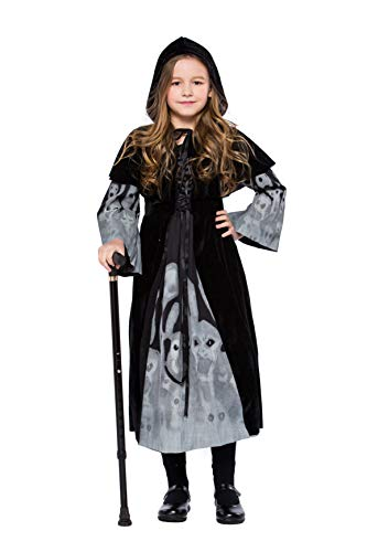 - Ghostly Dress Sorceress Children Girls Fancy Dress Party Halloween Costumes (Medium)