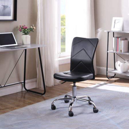 Mainstay Chevron Adjustable Height Armless Task Chair, Black (Designs Z-line Task Chair)