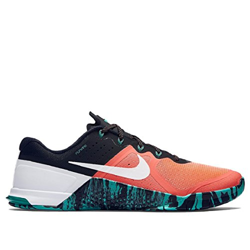 Nike Mens Metcon 2 Shoes Bright Mango/Hyper Jade/Wht 813 Size 11