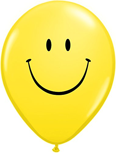 Pioneer Balloon Company 85986.0 085986 Smile Face - Yellow, 11