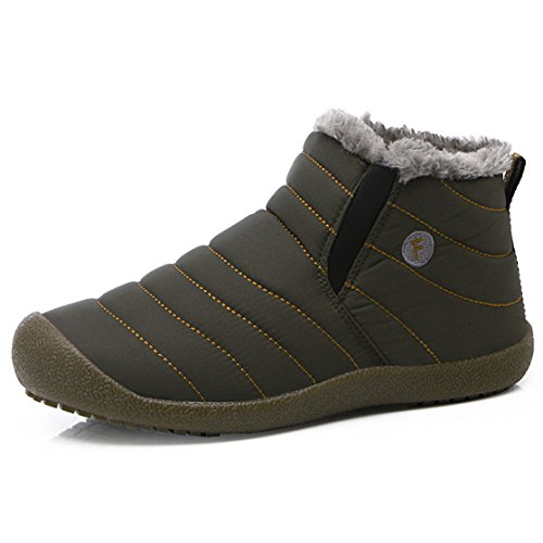 Waterproof Fur SITAILE With Men Fashion Grey Women Unisex Winter Couple Shoes Snow Boots r8fIZ8qwx