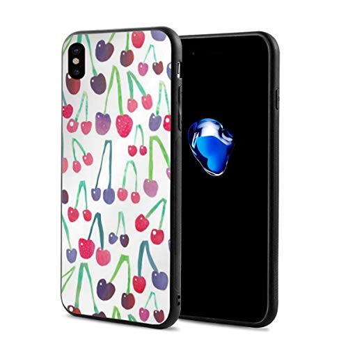 Cheeky Cherry X Phone Case Compatible with iPhone X/Xs,Fun Crazy Cute Phone Case 2.9 X 5.8 Inch.