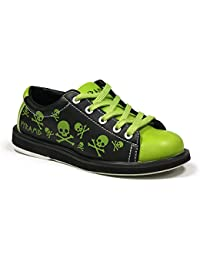 Youth Skull Green/Black Bowling Shoes
