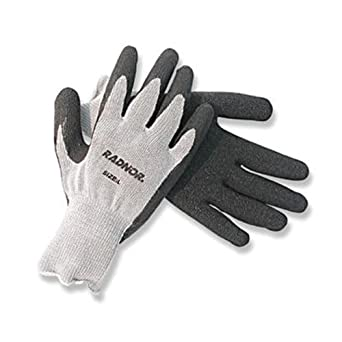 Amazon.com: Radnor® grande gris cuerda tejer guantes con ...