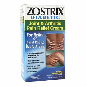 Zostrix Diabetic Joint & Arthritis Pain Relief Cream w/Applicators 2oz