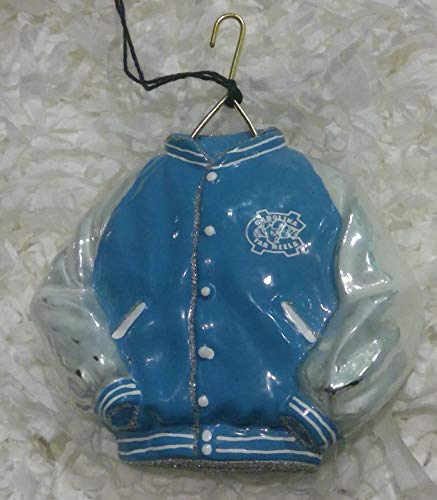Joy To The World North Carolina Varsity Jacket Glass Christmas ()