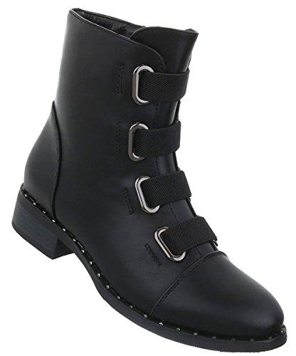 Boots Damen Schuhe Stiefeletten Schwarz Schuhe Damen wanPnqH