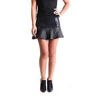 La Modeuse-Falda corta piel sintética, color negro, Mujer, color ...