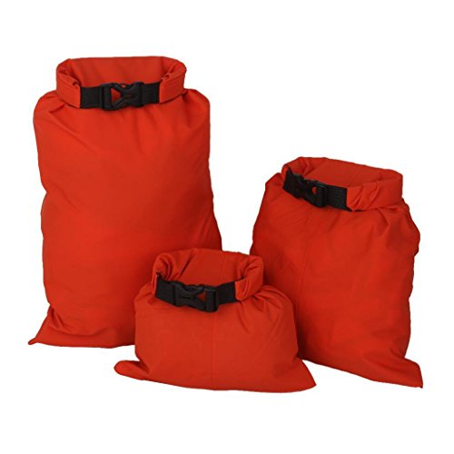 FidgetFidget Kayak Orange Set of 3Pcs Waterproof Dry Bag for Camping Canoeing Rafting by FidgetFidget (Image #7)