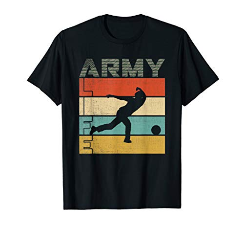 - Life in the Army, Flag Camo entertainment in army bowling T-Shirt