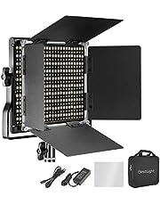BestLight Bi-Color LED Video Luz 660 LED 42W 3200K-5600K Regulable 7300 Lux/m CRI 96+ Fotografía Iluminación LED con Soporte en U Barndoor Bolsa Transporte Carcasa Metálica