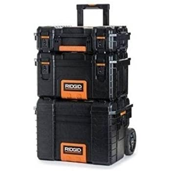 RIDGID Professional Tool Storage Cart and Organizer Stack 3 Tool Box Combination  sc 1 st  Amazon.com & RIDGID Professional Tool Storage Cart and Organizer Stack 3 Tool ...